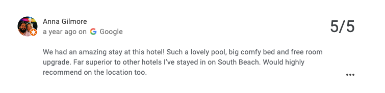The Fritz Hotel Testimonials